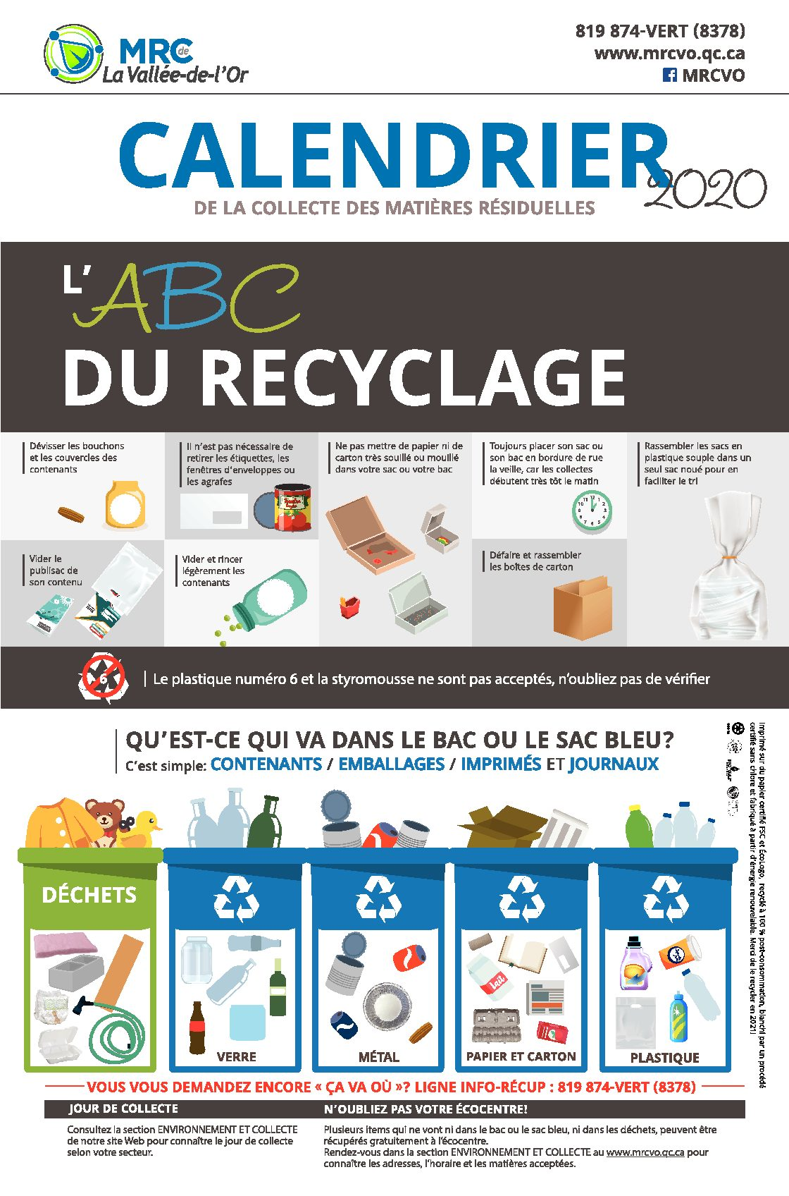 CONSIGNES POUR RECYCLER