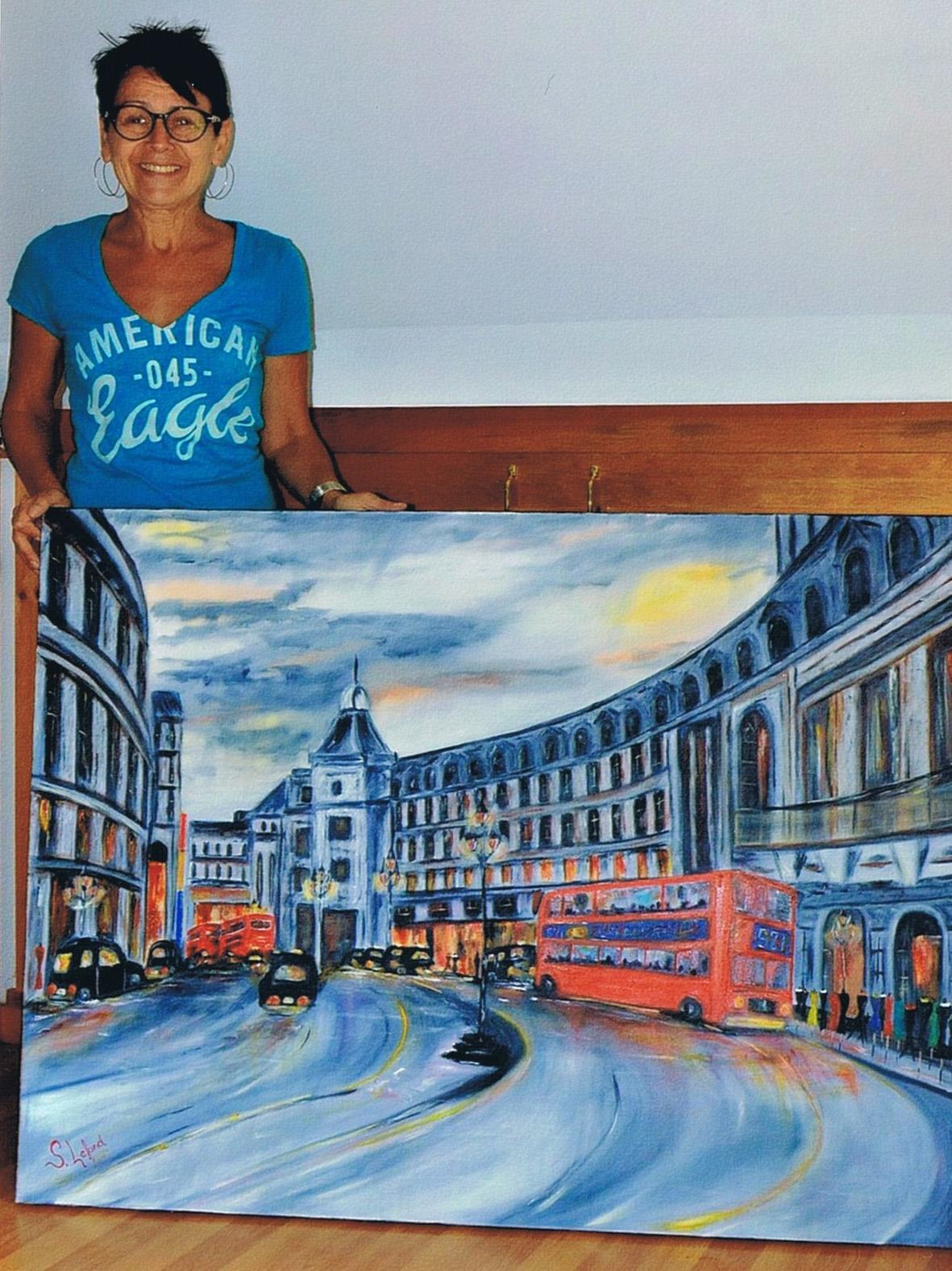 Les toiles de Simone Lafond à la MRCVO